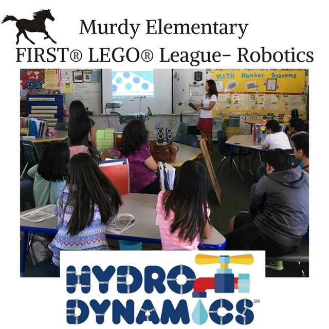 Murdy students participate in the Lego Robotics League.
