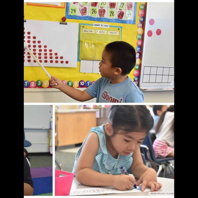 Murdy's Vietnamese Dual Language Program implements bilingual learning into the daily curriculum!