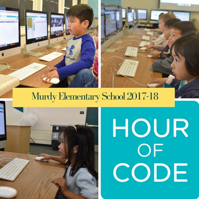 Murdy Elementary students in grades TK- 6 participate in the 2017 Hour of Code.