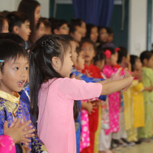 TK Dual Immersion Students Participate in Gratitude Project Celebration